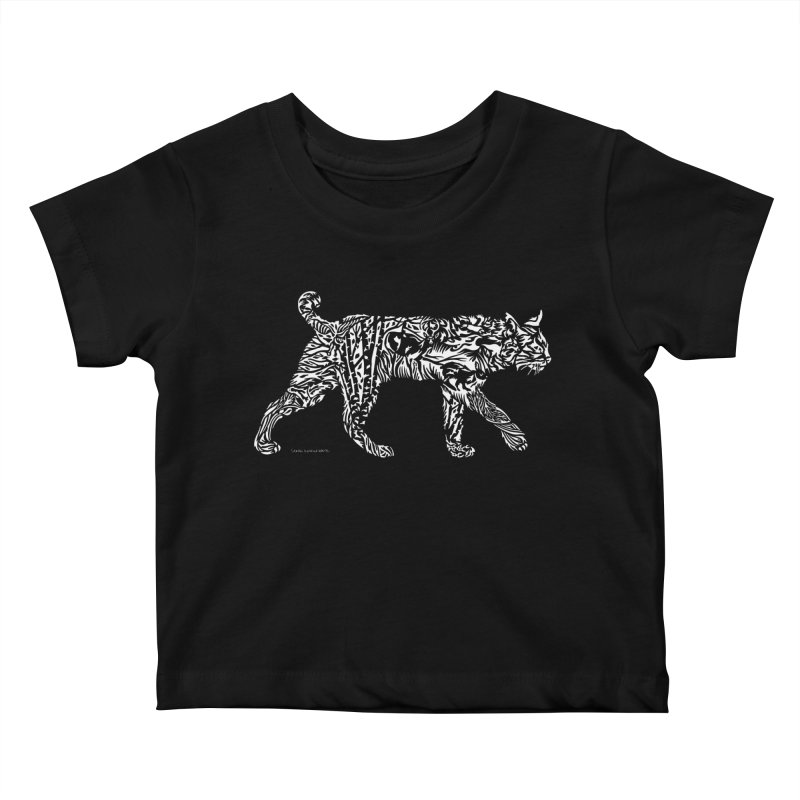 Bobcat Kids Baby T-Shirt by Sarah K Waite Illustration