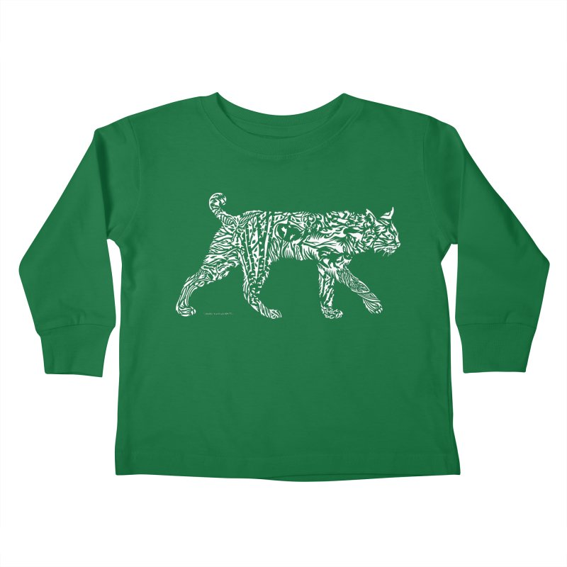 Bobcat Kids Toddler Longsleeve T-Shirt by Sarah K Waite Illustration