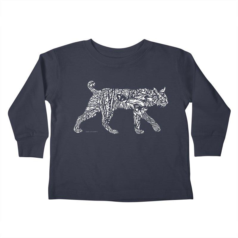 Bobcat Kids Toddler Longsleeve T-Shirt by Sarah K Waite Illustration