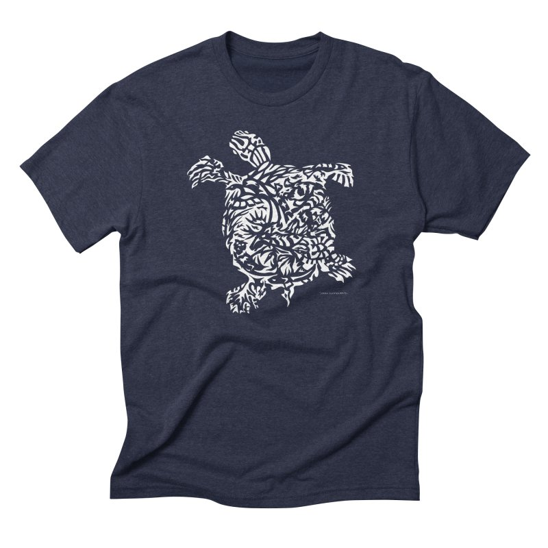 Turtle Men's Triblend T-Shirt by Sarah K Waite Illustration