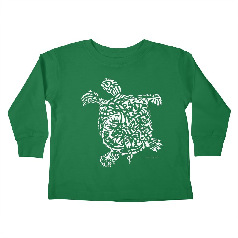 Turtle Kids Toddler Longsleeve T-Shirt by Sarah K Waite Illustration