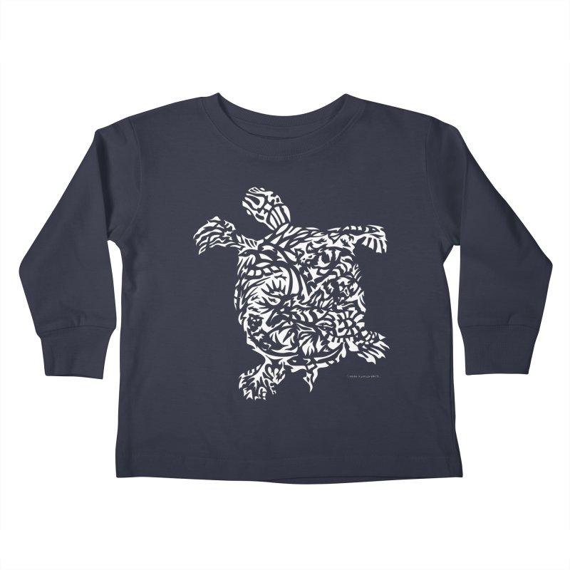Turtle Kids Toddler Longsleeve T-Shirt by Sarah K Waite Illustration