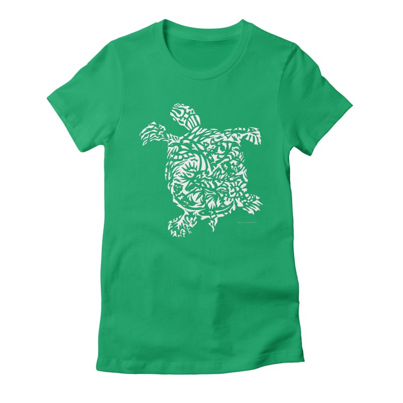 Turtle Women's Fitted T-Shirt by Sarah K Waite Illustration