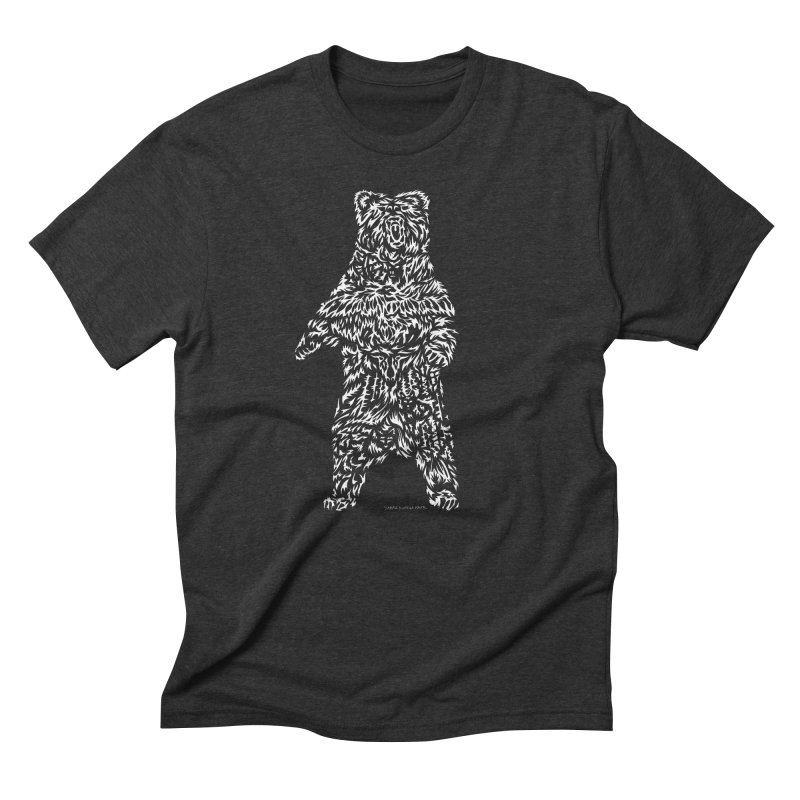 Bear Men's Triblend T-Shirt by Sarah K Waite Illustration