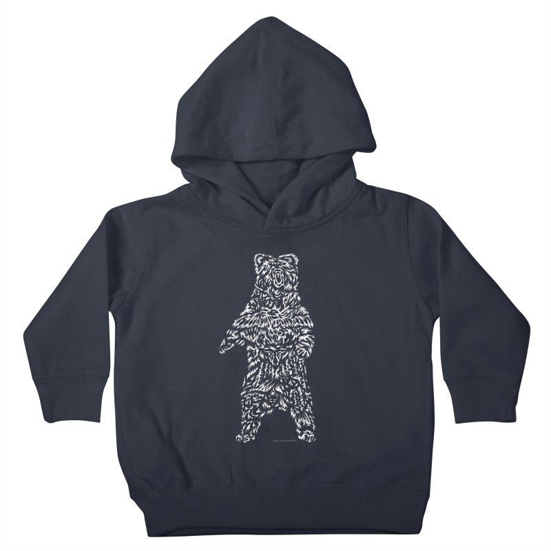 Bear Kids Toddler Pullover Hoody by Sarah K Waite Illustration