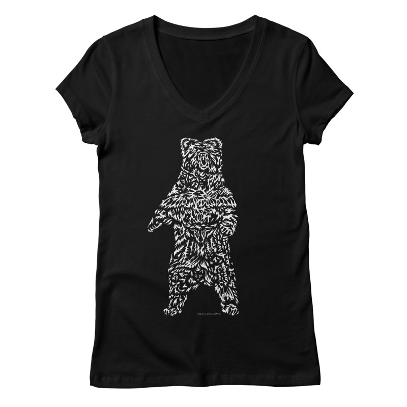 Bear Women's V-Neck by Sarah K Waite Illustration