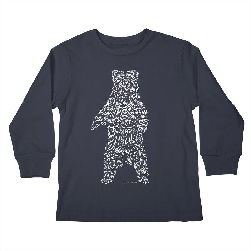 Bear Kids Longsleeve T-Shirt by Sarah K Waite Illustration