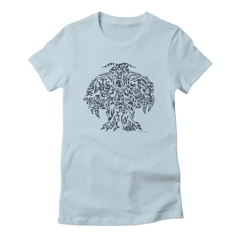 Moonkin Women's Fitted T-Shirt by Sarah K Waite Illustration