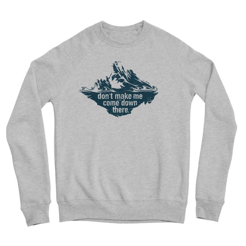 Approaching Icebergs Men's Sweatshirt by Sarah K Waite Illustration
