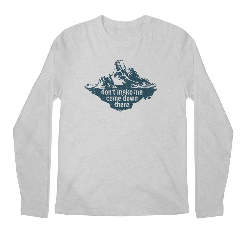 Approaching Icebergs Men's Longsleeve T-Shirt by Sarah K Waite Illustration