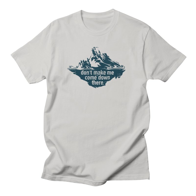 Approaching Icebergs Men's T-Shirt by Sarah K Waite Illustration