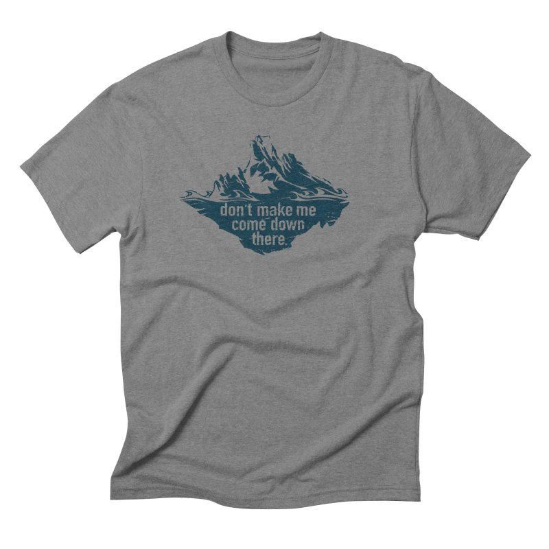 Approaching Icebergs Men's T-Shirt by Sarah K Waite Illustration