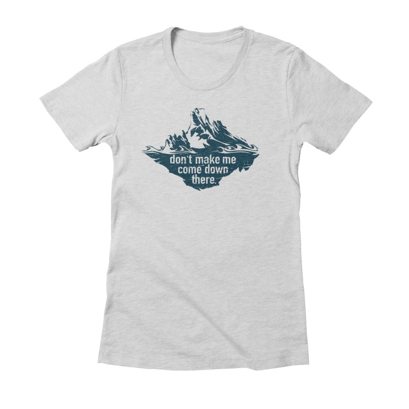 Approaching Icebergs Women's T-Shirt by Sarah K Waite Illustration