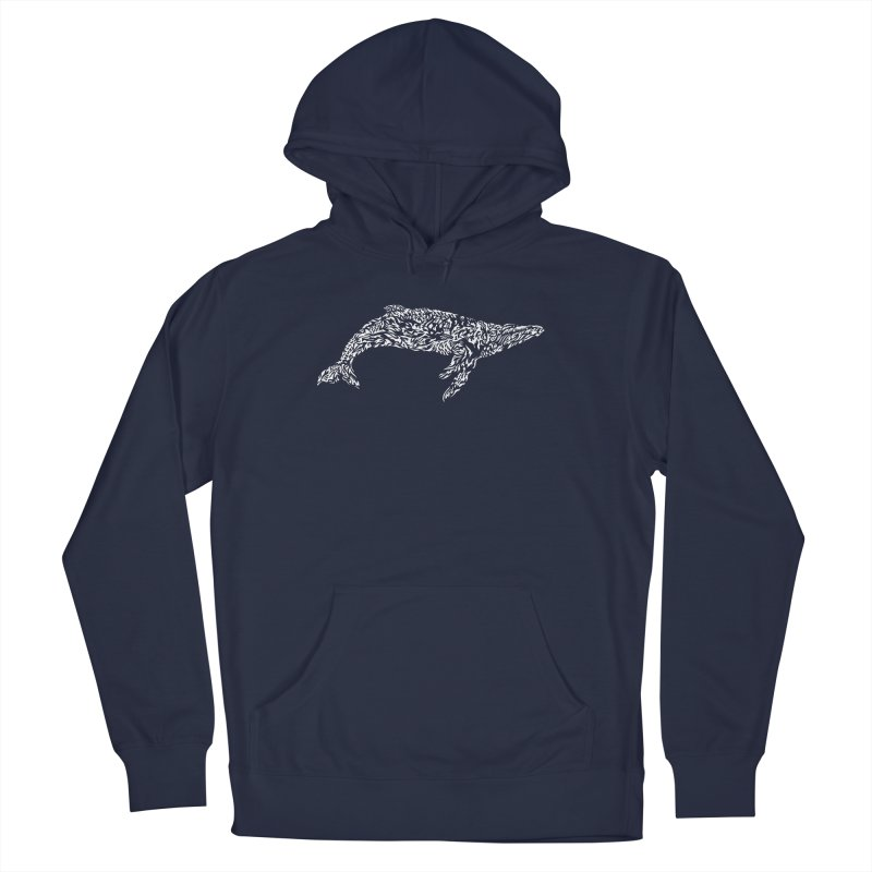 Whale Women's French Terry Pullover Hoody by Sarah K Waite Illustration