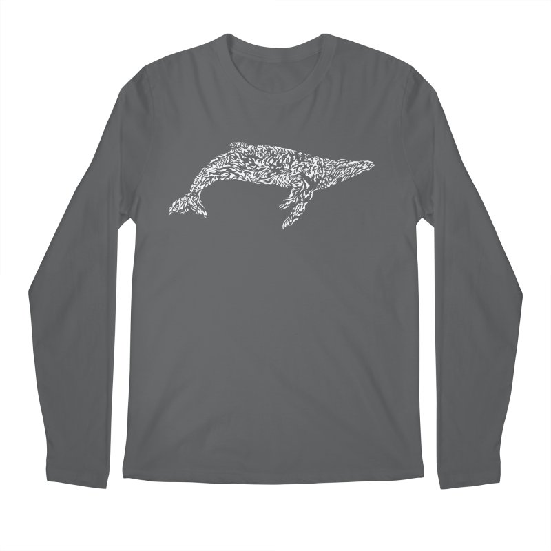 Whale Men's Longsleeve T-Shirt by Sarah K Waite Illustration