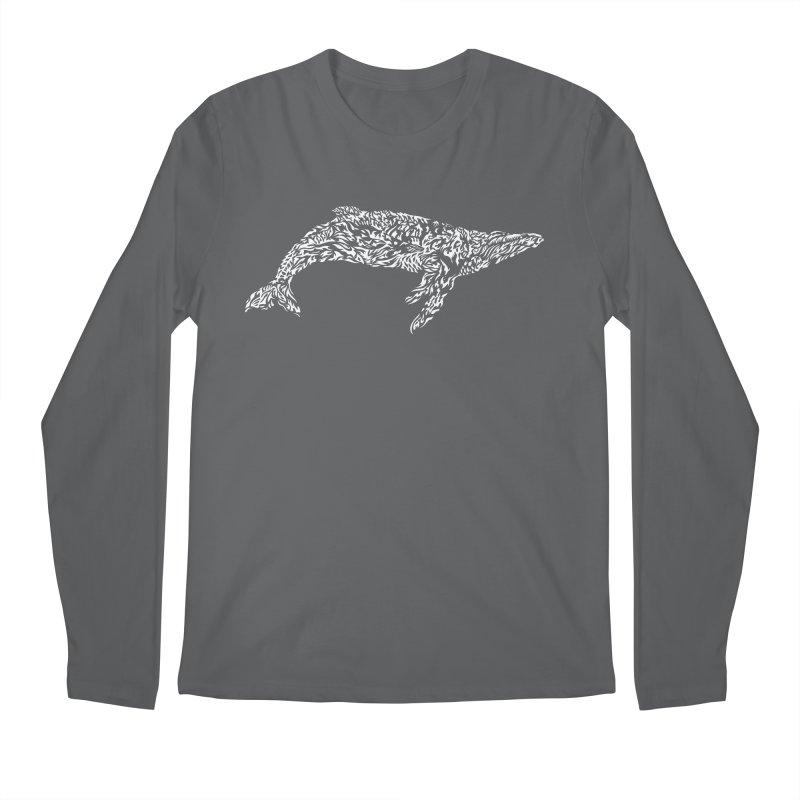 Whale Men's Regular Longsleeve T-Shirt by Sarah K Waite Illustration