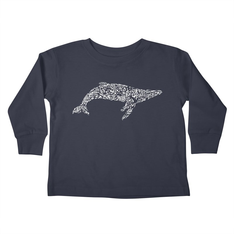 Whale Kids Toddler Longsleeve T-Shirt by Sarah K Waite Illustration