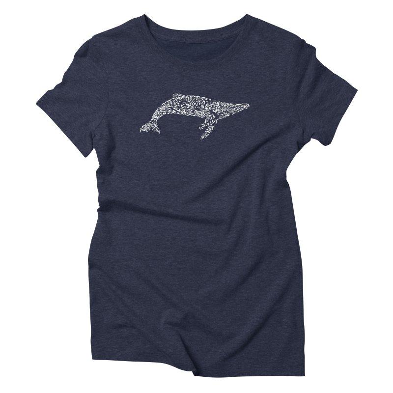 Whale Women's Triblend T-Shirt by Sarah K Waite Illustration