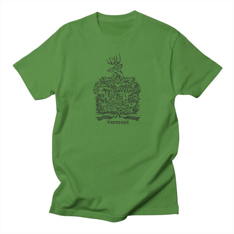 Vermont State Flag Men's T-Shirt by Sarah K Waite Illustration