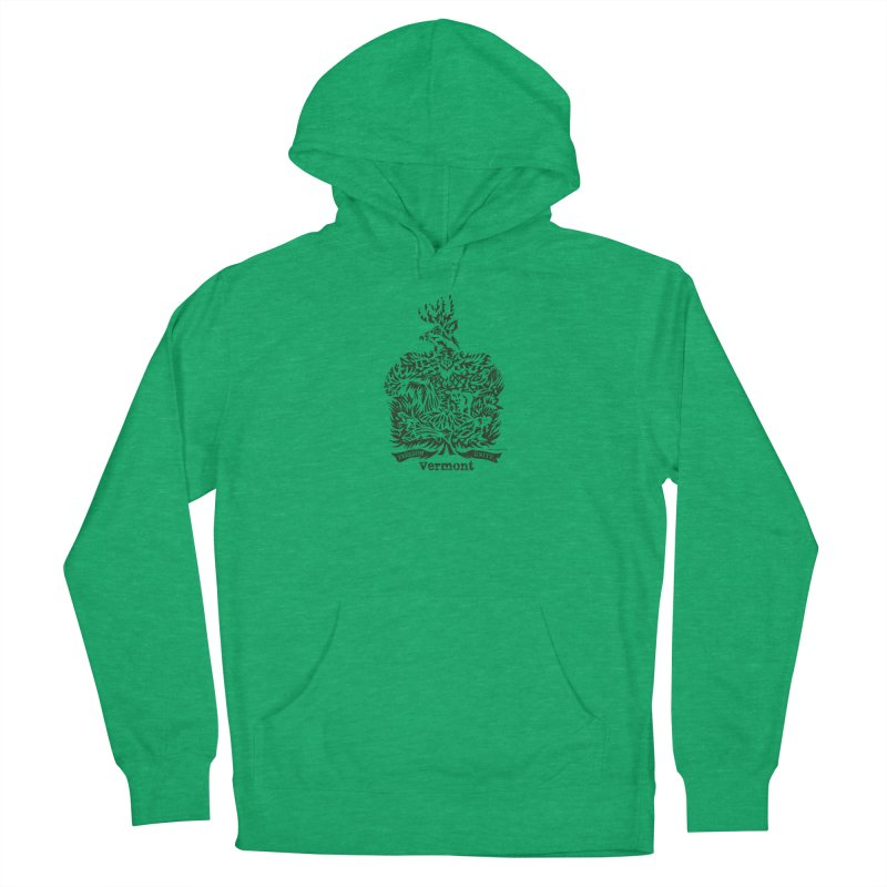 Vermont State Flag Men's Pullover Hoody by Sarah K Waite Illustration