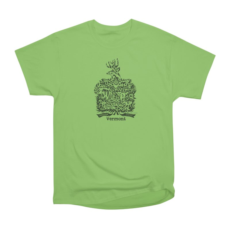 Vermont State Flag Men's Heavyweight T-Shirt by Sarah K Waite Illustration