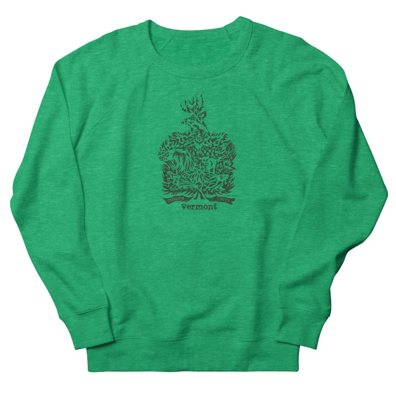 Vermont State Flag Men's Sweatshirt by Sarah K Waite Illustration
