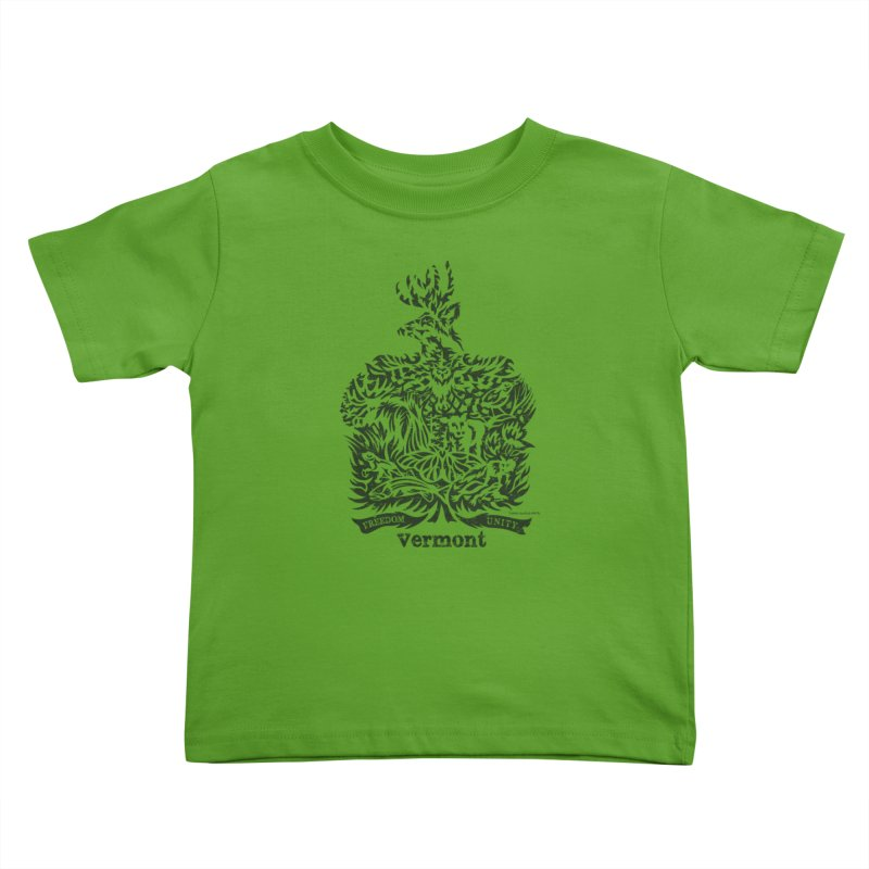 Vermont State Flag Kids Toddler T-Shirt by Sarah K Waite Illustration