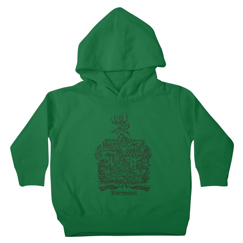 Vermont State Flag Kids Toddler Pullover Hoody by Sarah K Waite Illustration