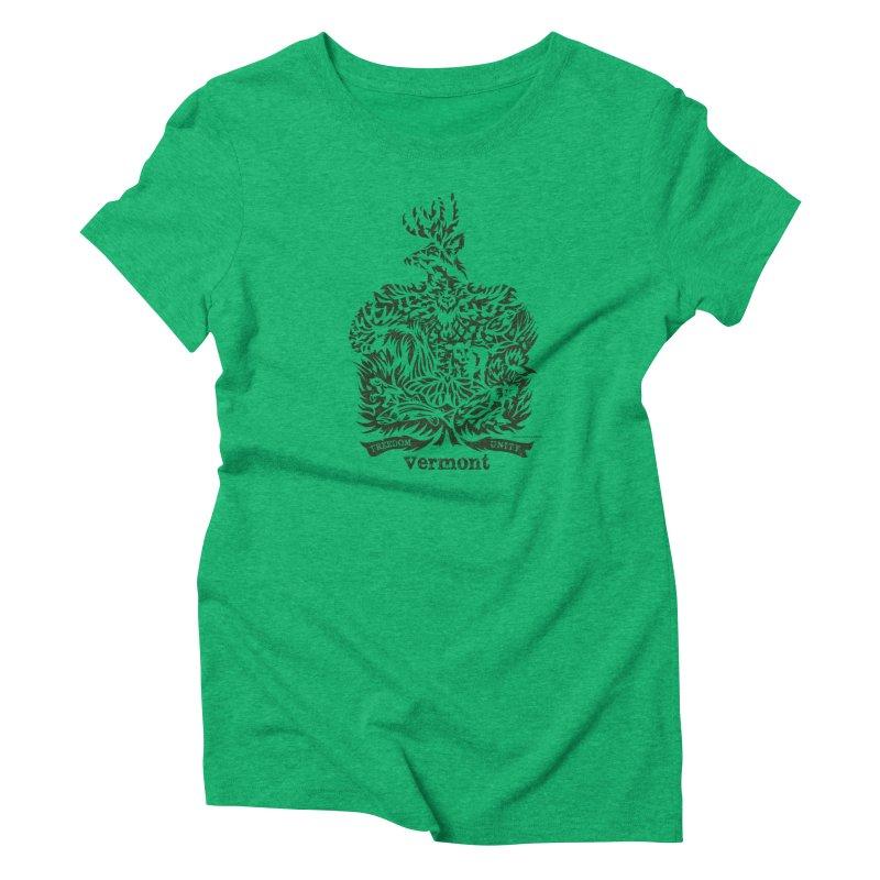 Vermont State Flag Women's Triblend T-Shirt by Sarah K Waite Illustration