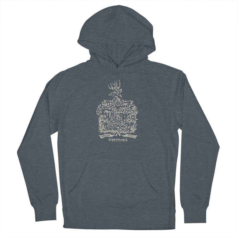 Vermont State Flag Men's French Terry Pullover Hoody by Sarah K Waite Illustration