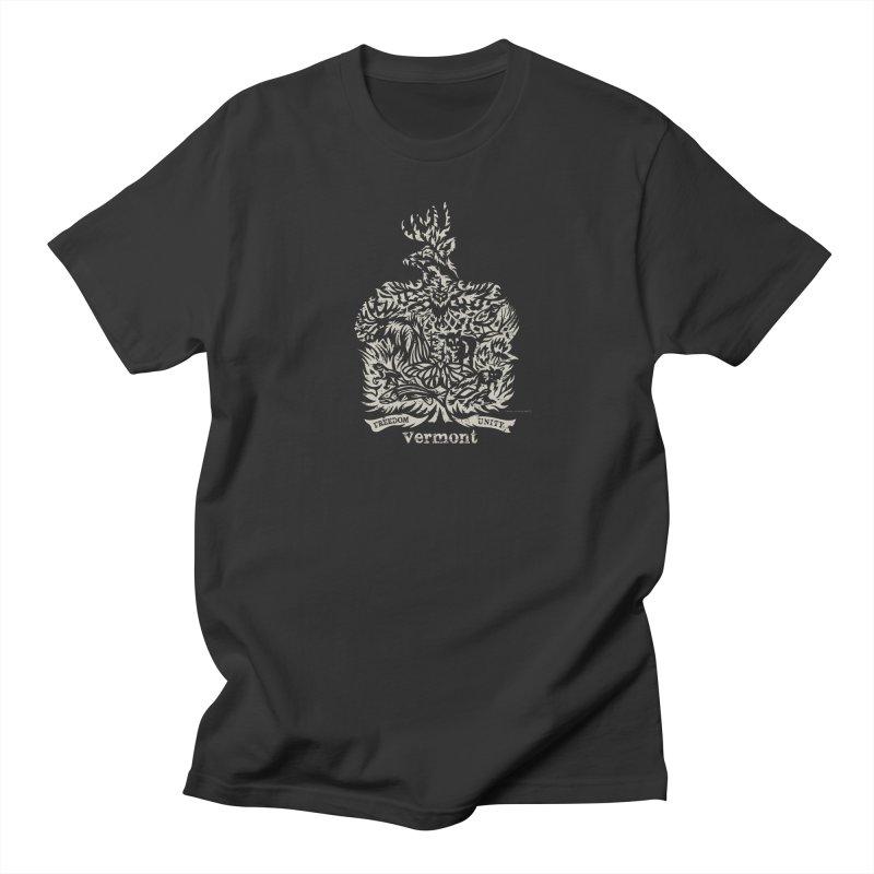Vermont State Flag Men's Regular T-Shirt by Sarah K Waite Illustration