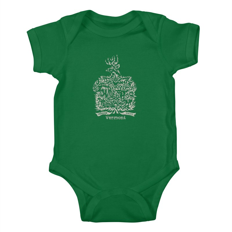Vermont State Flag Kids Baby Bodysuit by Sarah K Waite Illustration