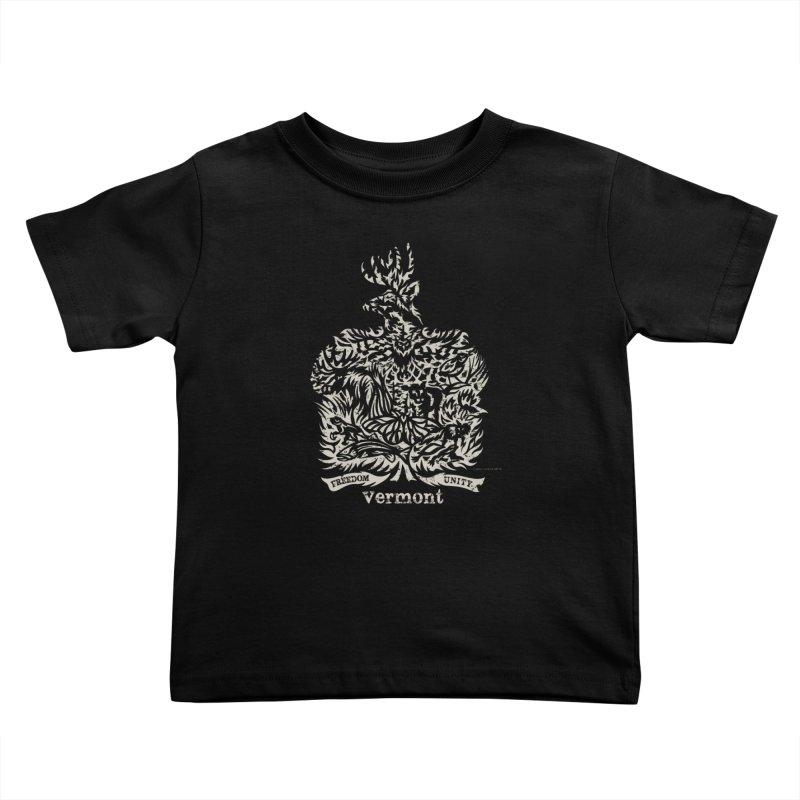 Vermont State Flag Kids Toddler T-Shirt by Sarah K Waite Illustration