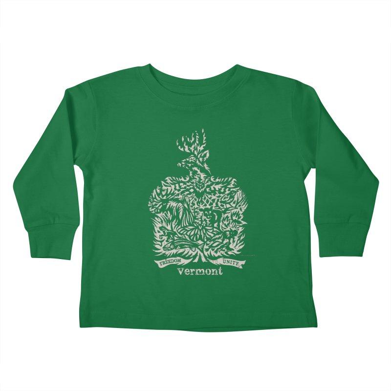 Vermont State Flag Kids Toddler Longsleeve T-Shirt by Sarah K Waite Illustration