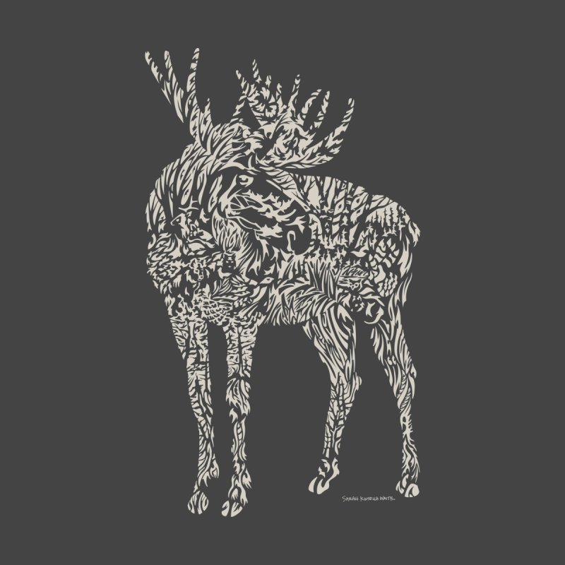 Moose Illustration Men's Longsleeve T-Shirt by Sarah K Waite Illustration