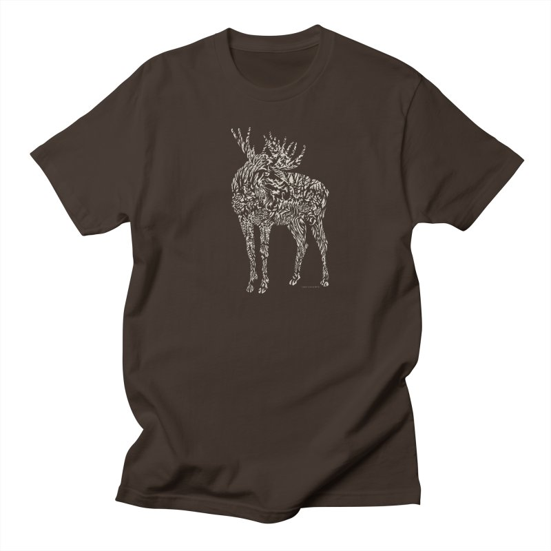 Moose Illustration Men's T-Shirt by Sarah K Waite Illustration