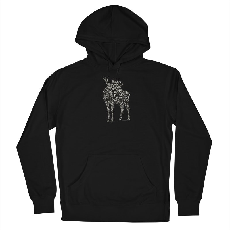 Moose Illustration Men's Pullover Hoody by Sarah K Waite Illustration