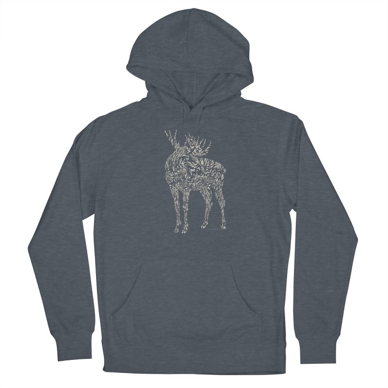 Moose Illustration Women's French Terry Pullover Hoody by Sarah K Waite Illustration