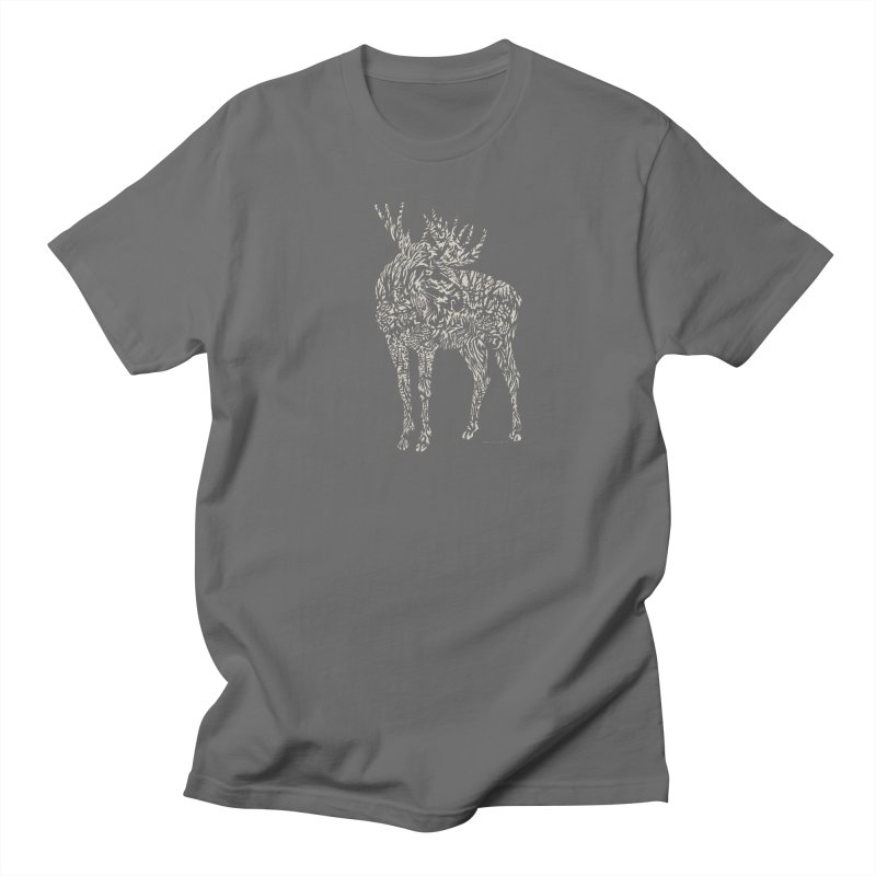 Moose Illustration Men's T-Shirt by Sarah K Waite Illustration