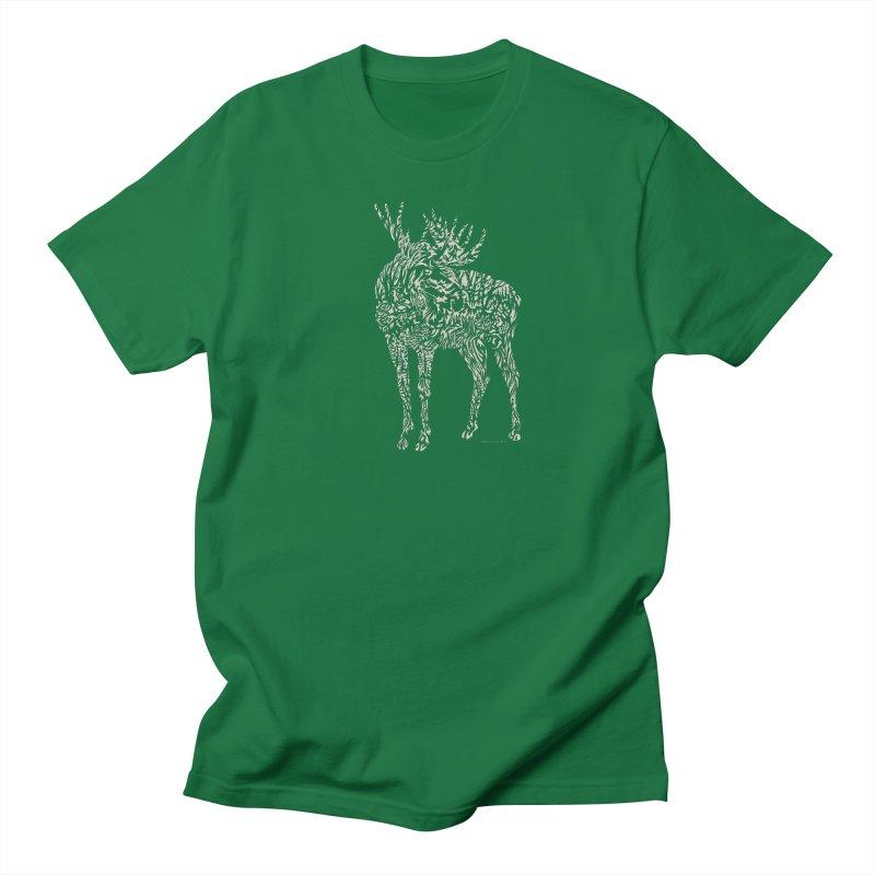 Moose Illustration Men's Regular T-Shirt by Sarah K Waite Illustration