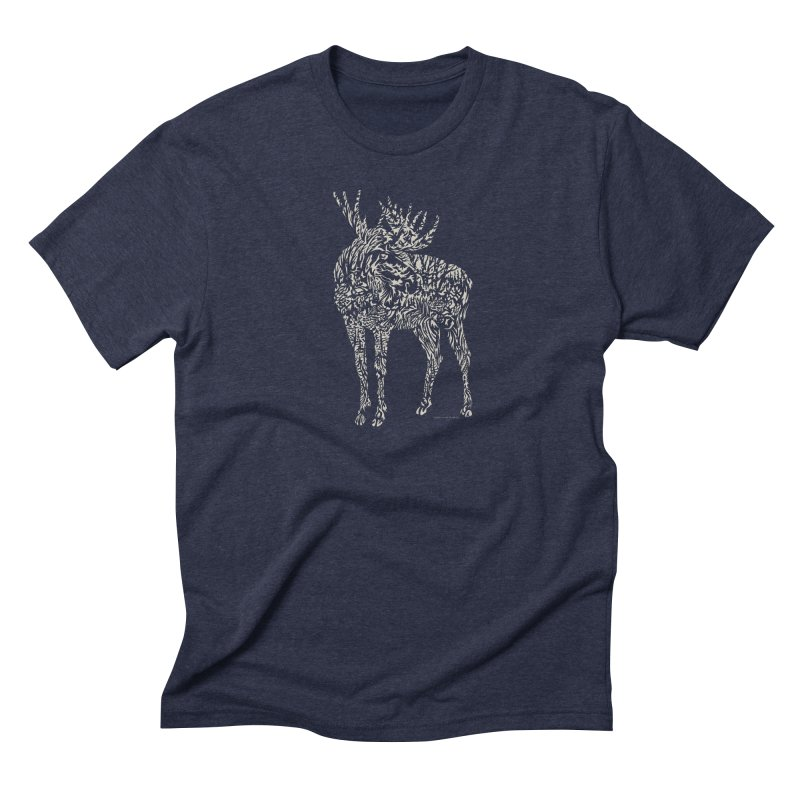 Moose Illustration Men's Triblend T-Shirt by Sarah K Waite Illustration