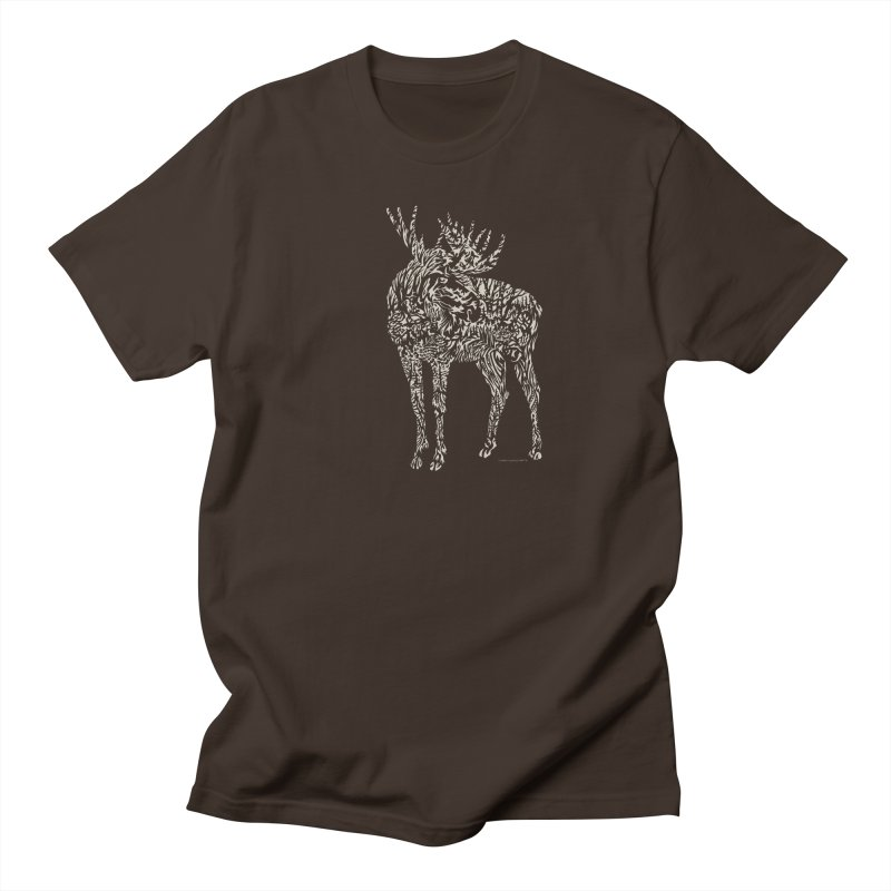 Moose Illustration Men's Regular T-Shirt by Sarah K Waite Illustration