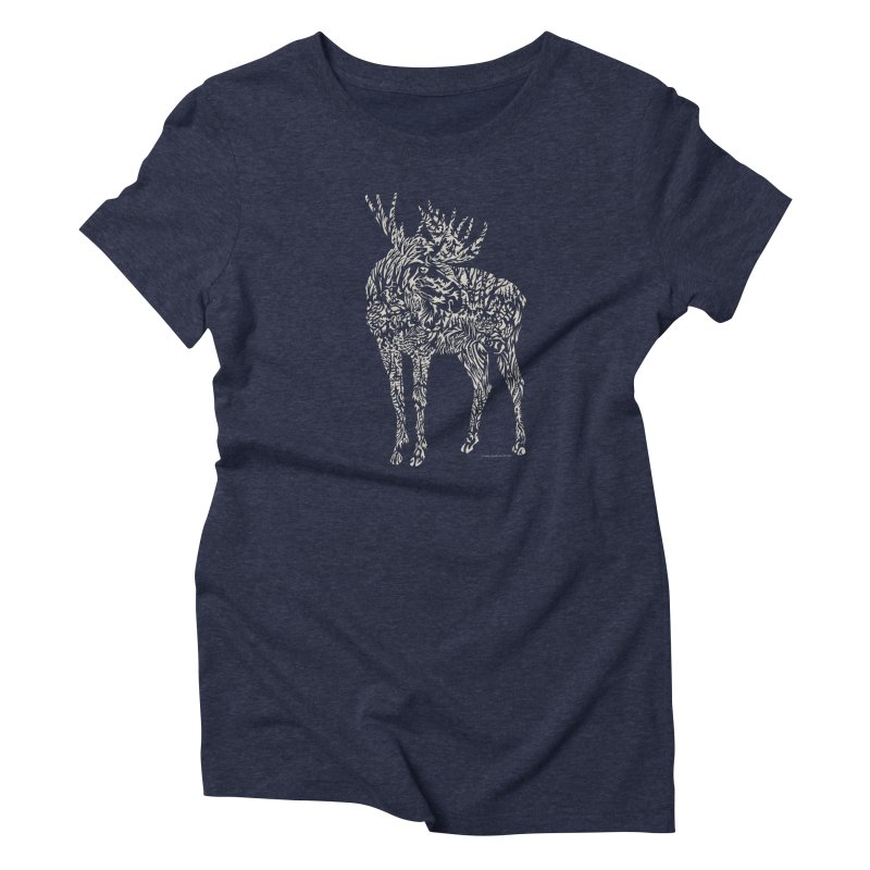 Moose Illustration Women's T-Shirt by Sarah K Waite Illustration