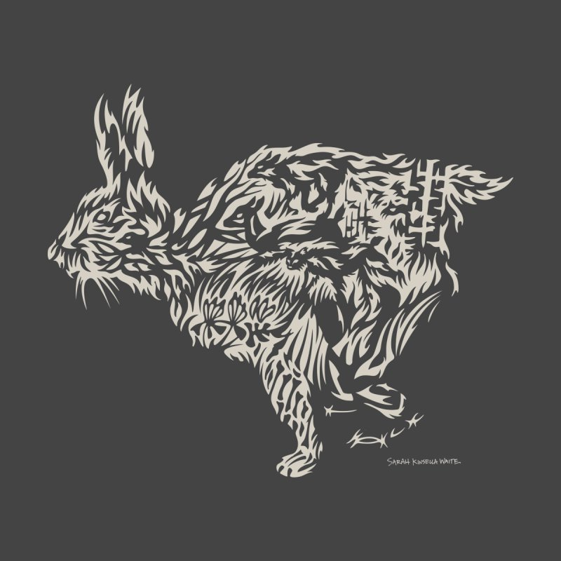 Rabbit Women's T-Shirt by Sarah K Waite Illustration