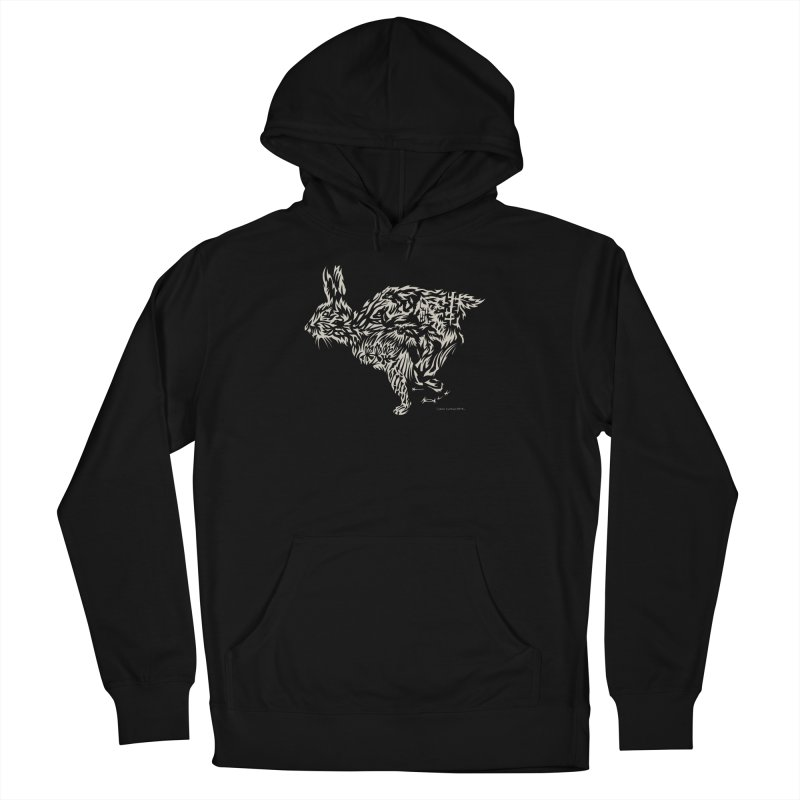 Rabbit Women's French Terry Pullover Hoody by Sarah K Waite Illustration