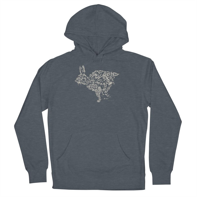 Rabbit Men's French Terry Pullover Hoody by Sarah K Waite Illustration