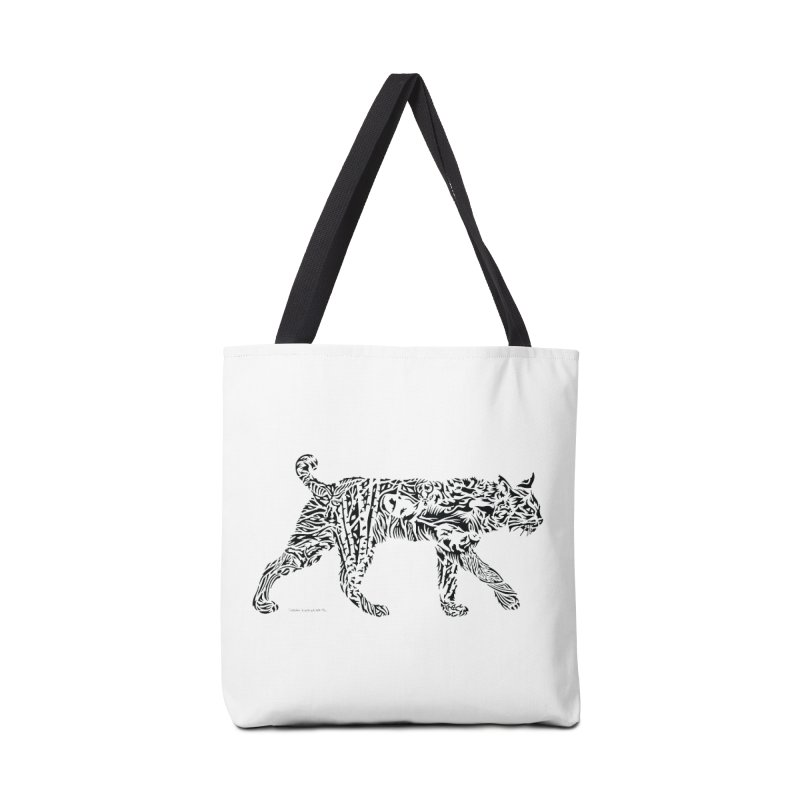 Bobcat Towl and Bag Accessories Bag by Sarah K Waite Illustration
