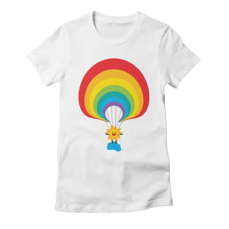 Here Comes The Sun Women's Fitted T-Shirt by Avo G'day!