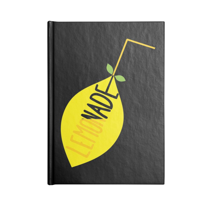 Let's Drink Lemonade! Accessories Blank Journal Notebook by Avo G'day!