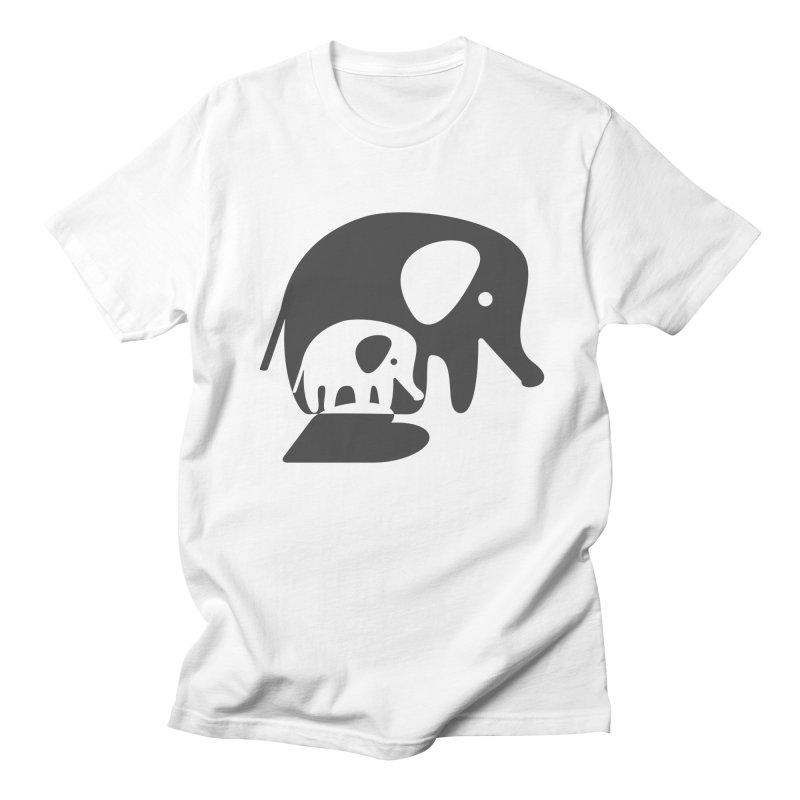 Love Elephants Men's Regular T-Shirt by Avo G'day!